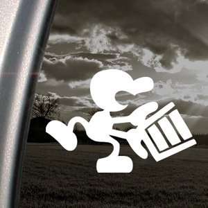 Mr Game And Watch Decal Bucket Wii Window Sticker