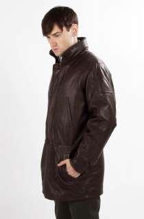 United Face Mens New 3/4 Length Classic Lambskin Leather Jacket Coat