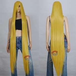 60 inch Hi_Temp Series Golden Blonde Extra Long Cosplay DNA Wigs 81JSP