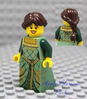 NEW Lego Castle FEMALE MAIDEN MINIFIG  Girl w/Brown Princess Hair