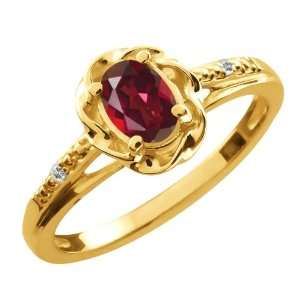 0.51 Ct Oval Ruby Red Mystic Topaz Topaz Gold Plated