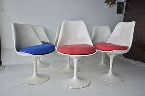 Century Modern Vintage Tulip dinning Chairs eames era knoll design MCM