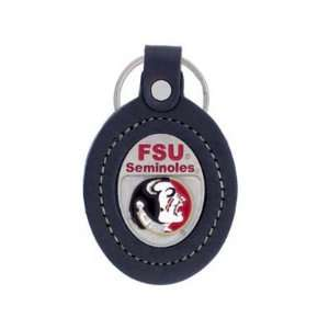 FLORIDA STATE SEMINOLES OFFICIAL LOGO LEATHER KEYCHAIN