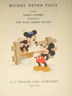 1939 1ST ED MICKEY NEVER FAILS MICKEY MOUSE DISNEY MINNIE MOUSE