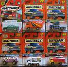 Different Matchbox Die Cast Metal Trucks, New in Packages