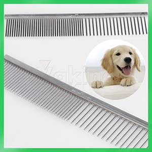 Fine Stainless Steel Teeth Comb Dog Cat Hair Pet Grooming Brand New