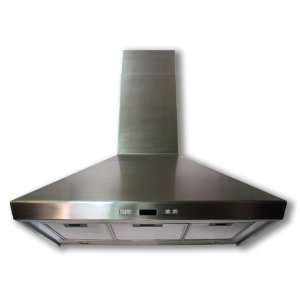 Euro Kitchen 36 Wall Full Stainless Steel Chimney Exhaust