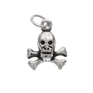 Silver Charm Pirate Skull and Crossbones ARRR: Arts, Crafts & Sewing