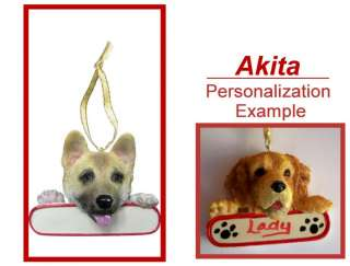AKITA Personalized Dog Christmas Ornament New Gift