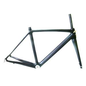 700C 3K Full Carbon Fiber Road Bike Frame w/ Rigid Fork 47cm,51cm,54cm