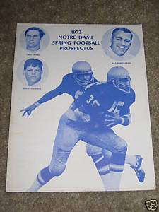 1971 NOTRE DAME FOOTBALL SPRING PROSPECTUS Dave Casper