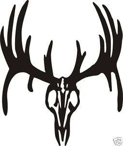 LARGE WHITETAIL DEER SKULL Decal