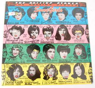 The Rolling Stones Sealed Some Girls Original USA Die Cut Faces Cover