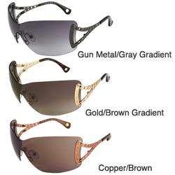 Michael Kors MKS120 Womens Rimless Shield Sunglasses