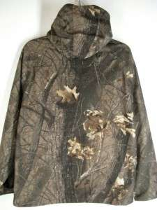 RUGGED Mens 10X GTX Gore Tex CAMO HUNTING JACKET Realtree HARDWOODS Sz