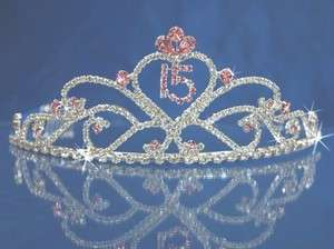 Quinceanera 15 Birthday Tiara Crystal Princess 5391F6