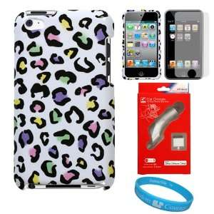 Two Piece Dog Paw Design Protective Hard Shell Crystal Cover Case
