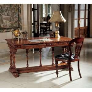 French Hand Carved Solid Mahogany Antique Replica Chateau