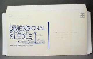 1962 Seattle Worlds Fair SPACE NEEDLE cardboard model