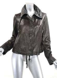 100% Lambskin Leather Black Jacket Soft Leather Lined Nice Details LRG