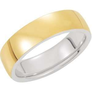 Sterling Silver & 14K Yellow Gold SIZE 07.00 Precious Bond
