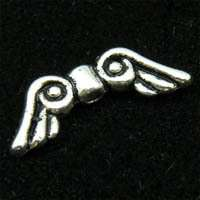 A426/ 80Pcs Tibetan silver angel wing spacer beads