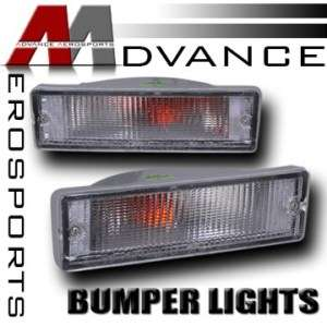 88 97 Nissan Hardbody Pickup Clear Signal Bumper Lights |