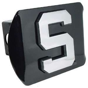 Michigan State University Spartans Black with Chrome Block S Emblem