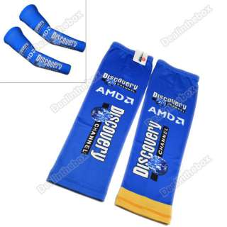 UV Protection Cycling Bicycle Bike Sport Arm Sleeve Warmers Blue