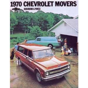 1970 CHEVROLET SUBURBAN PANEL TRUCK Sales Brochure Automotive