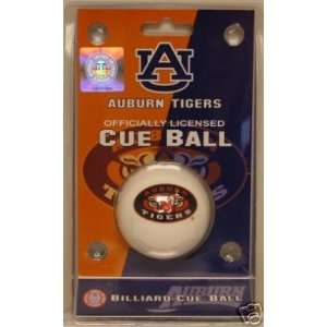 Auburn University Tigers AU Billiard Cue Ball WAR EAGLE