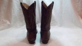Mens Shoes Cowboy Boots Justin Ropers Western Nice 9.5 D Brown 5