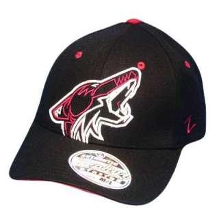 NHL LNH PHOENIX COYOTES BLK FLEX FIT SM ZEPHYR HAT CAP