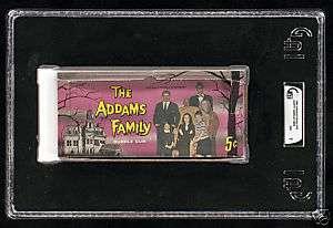 Donruss Addams Family Five Cent Gum Card Display Box GAI 7 Offer Ok
