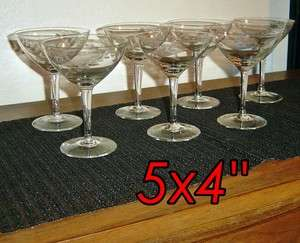 etched glasses w/pitcher hollywood regency mid century mad men