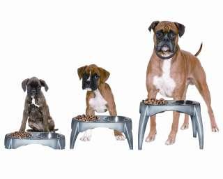 Adjustable Height Elevated Pet Dog Food Bowl Feeder NEW