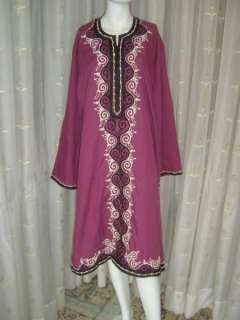 Moroccan Islamic Kurta Kameez Tunic Top Shirt Dress #1