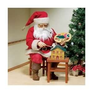 16 Fabriche Santa Claus Painting Doll House Christmas