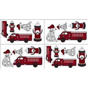 Frankies Firetruck Baby and Kids Wall Decal Stickers