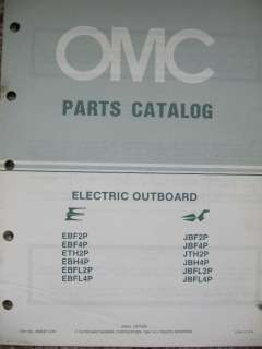 Evinrude Parts Catalog Manual Electric Outboard   FREE SHIPPING