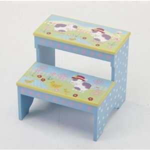 Kindergarten Plus Step Stool (Blue Moo Moo Cow)