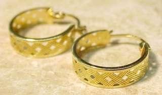 14KT Solid Gold Hoop Earrings .62 / 15.8mm EXC