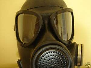 Russian USSR military black rubber gas mask PMK, Large