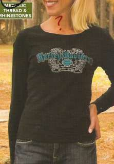 NWT Harley Davidson Ladies Gem L/S Tee H3529186 LARGE