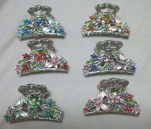 Wholesale Lot C 6 Flower Butterfly Hair Clip Claw Clamp