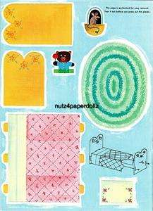 ViNTAGE PLAYTIME HOUSE PAPER DOLLS LaZER RePRO ORG SiZe