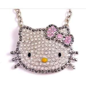 Kitty Crystal Necklace By Jersey Bling ships in Gift Box Jewelry