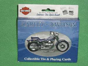 HARLEY DAVIDSON LIMITED EDITION PLAYING CARDS WITH TIN