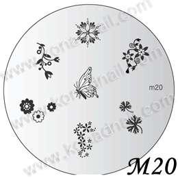 IMAGE PLATE M20 Konad Stamping Nail Art Design Nails
