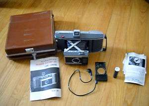 Camera Model J66 w Leather Case 1961 Electric Eye Instant Photo